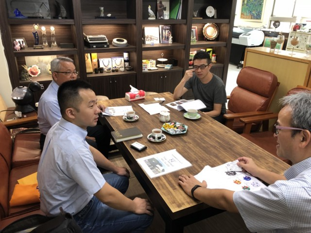 107-1桐德鋼鐵總經理至科談產學合作初步事宜